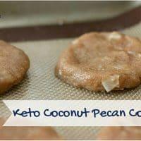 Keto Coconut Pecan Cookies Baking