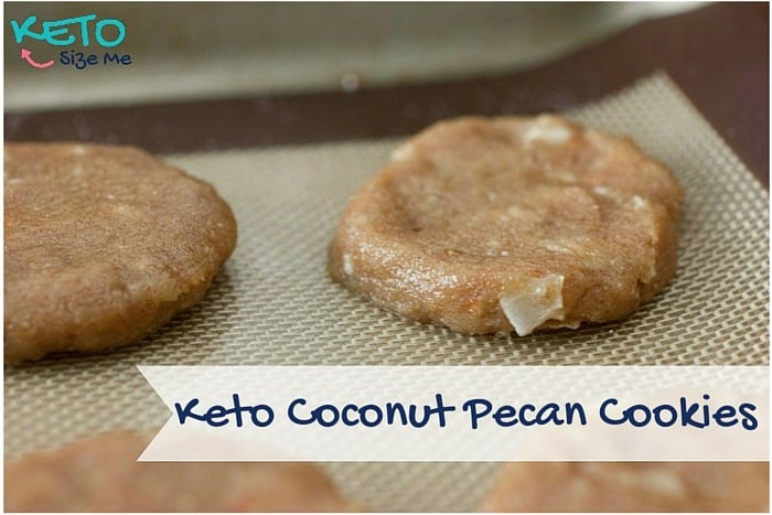 Keto Coconut Pecan Cookies Baking