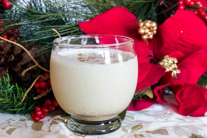 Keto Egg Nog with Cashew Milk