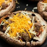 Keto Portobello Mushroom Crust Pizza