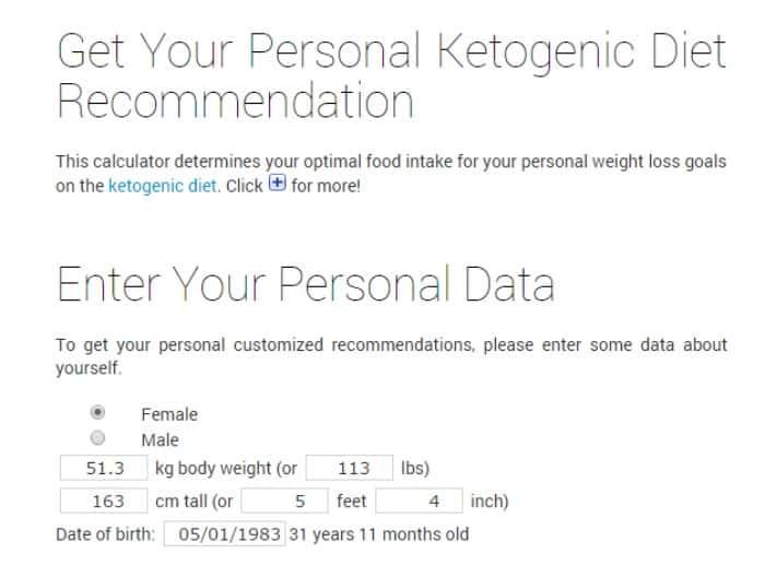Personal Keto Macro Calculator • Keto Size Me