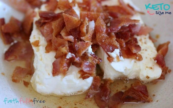 Keto Creamy Bacon Veggie Dip