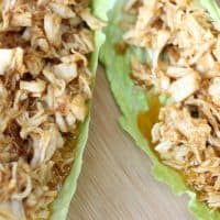 Keto Pulled Chicken Wraps