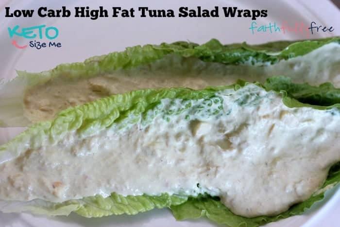 Keto Tuna Salad Wrap Recipe- My FAVORITE low carb tuna salad sandwich ever! tuna. mayo, monterey jack, oh my! keto, lchf, atkins, paleo. it's all good!| ketosizeme.com