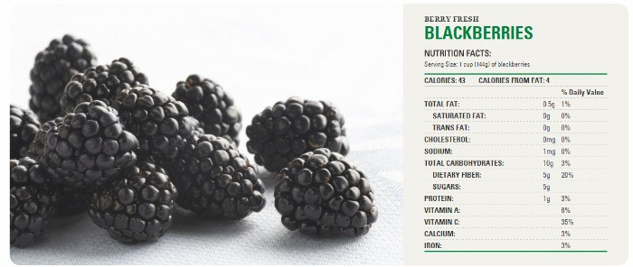 Net Carbs Blackberries