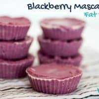 Blackberry Mascarpone Fat Bombs