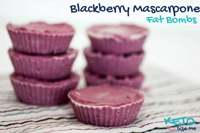 Blackberry Mascarpone Fat Bombs