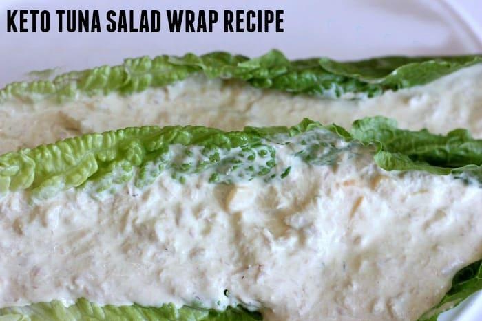 Keto Tuna Salad Wrap Recipe- The BEST low carb tuna salad sandwich ever! tuna. mayo, monterey jack, oh my! keto, lchf, atkins, paleo. it's all good!  ketosizeme.com