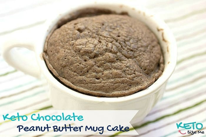 Delicious and Easy Keto Chocolate Peanut Butter Mug Cake Recipe