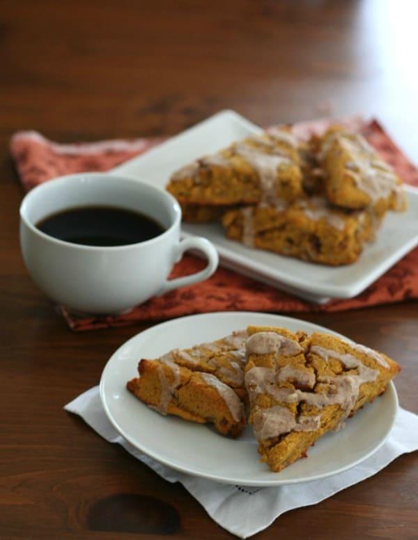 Keto-Pumpkin-Scones-with-Cinnamon-Glaze