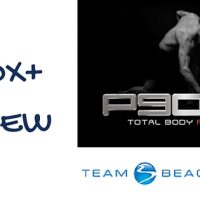 P90X Plus Review text with p90x logo