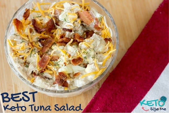 ... is the Best Keto Tuna Salad Recipe I have ever made! Seriously EVER