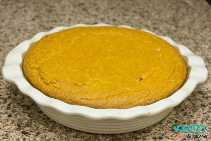 Delectable Keto Pumpkin Cheesecake. Perfect for the holidays with only 3 Net Carbs. Low Carb High Fat. Ketogenic Diet Friendly Recipe.