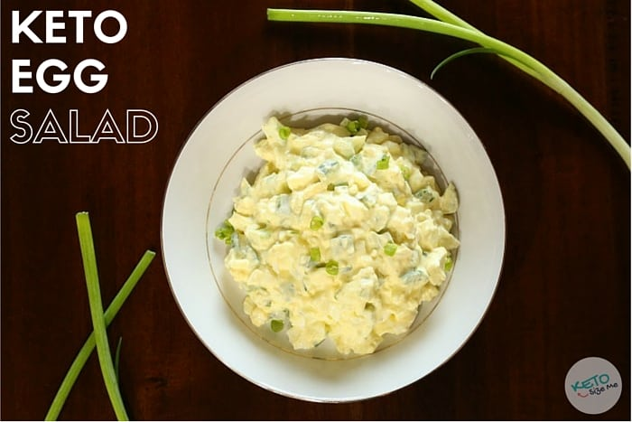 Keto Egg Salad Recipe - This recipe is easy to make and can be made with zero carbs. - Egg salad with peppers, celery, mayo, mustard, and more. | ketosizeme.com
