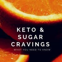 Text reads Keto and Sugar Cravings