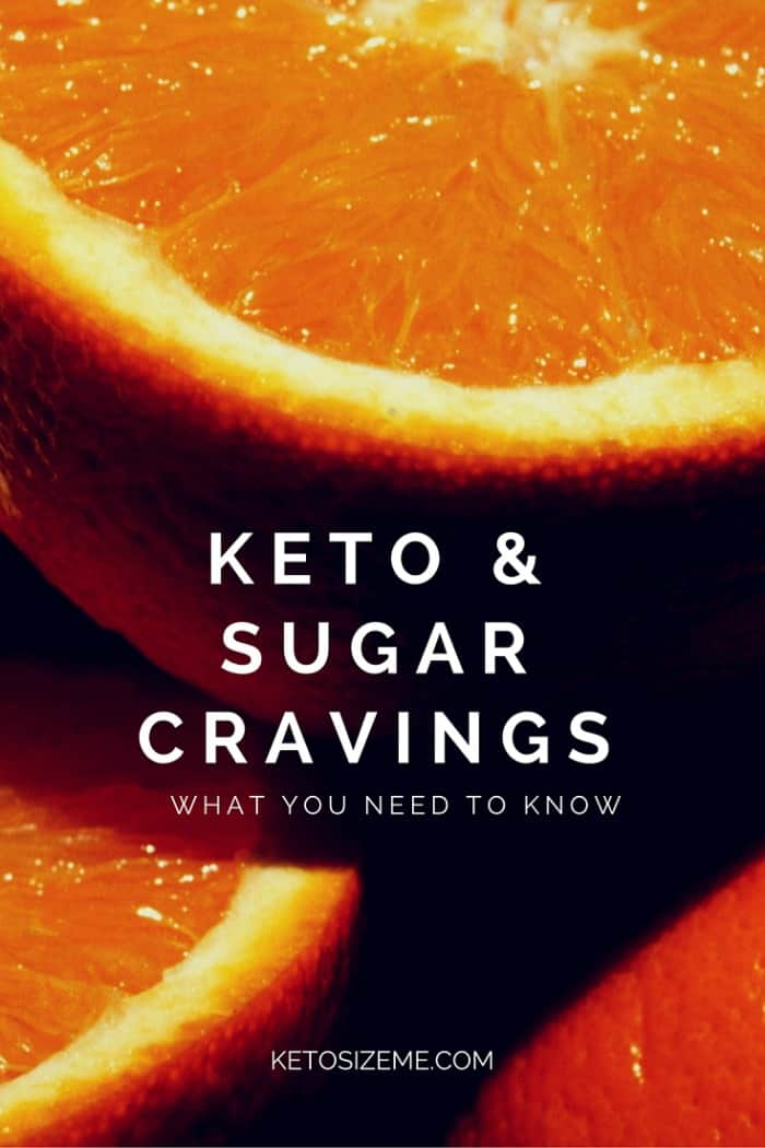 Text reads Keto and Sugar Cravings