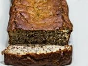 Keto Banana Walnut Bread Sliced