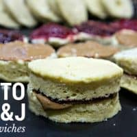 Keto Peanut Butter and Jelly Sandwiches Recipe - Keto bread with pb&j, low carb, gluten free, sugar free, KIDS LOVE IT! | ketosizeme.com
