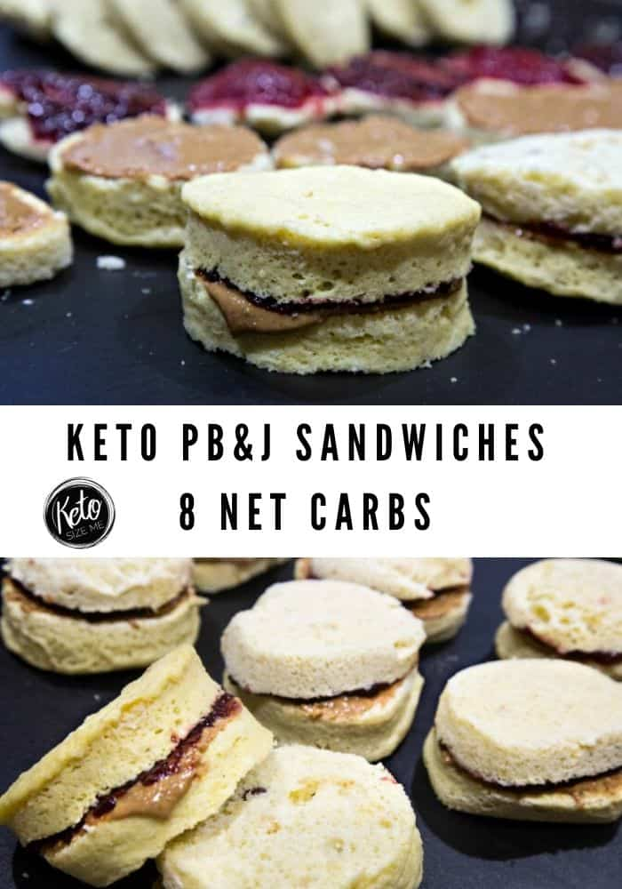 keto peanut butter and jelly sandwiches