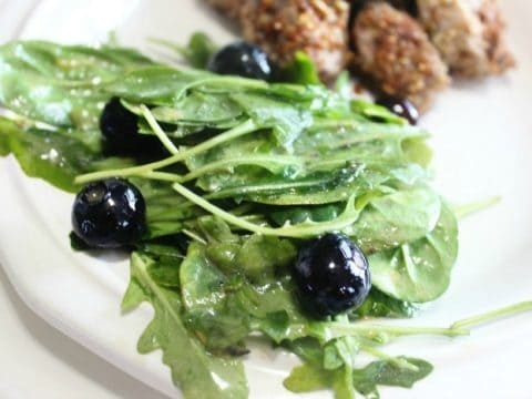 Blueberry Arugula Salad Mix Side with pork