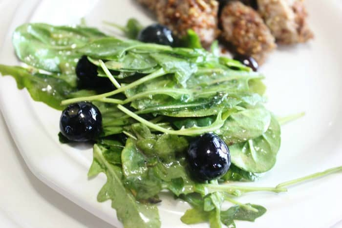 Blueberry Arugula Salad Mix Side Keto Diet