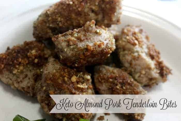Keto Almond Pork Tenderloin Bites