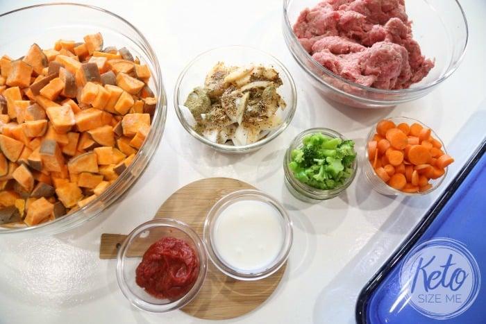 Keto Shepherd's Pie Ingredients