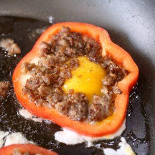 Keto Breakfast Pepper Rings Recipe