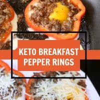 keto breakfast pepper rings text image