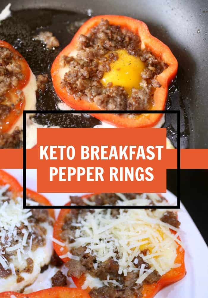 Keto Breakfast Pepper Rings Recipe- Low Carb High Fat - Perfect Quick and Easy Keto Breakfast