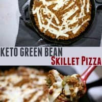 Keto Green Bean Skillet Pizza - Perfect For Keto Family Dinner