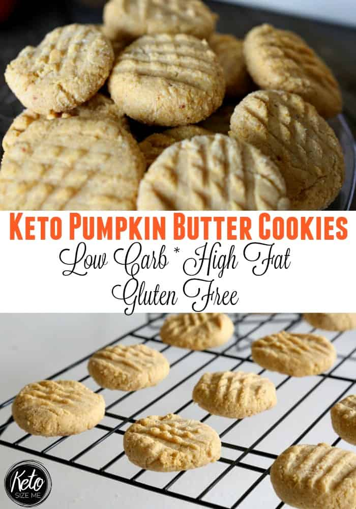 These Keto Pumpkin Butter Cookies were inspired by my Keto Cinnamon Butter Cookies recipe. When I shared that recipe, I had no idea that so many of you would try it, love it, and make it your own. I have to admit I was blown away by your response to such a simple recipe. That's one of the reasons I decided to try to give you something just as simple now that we are nearing the holiday season.