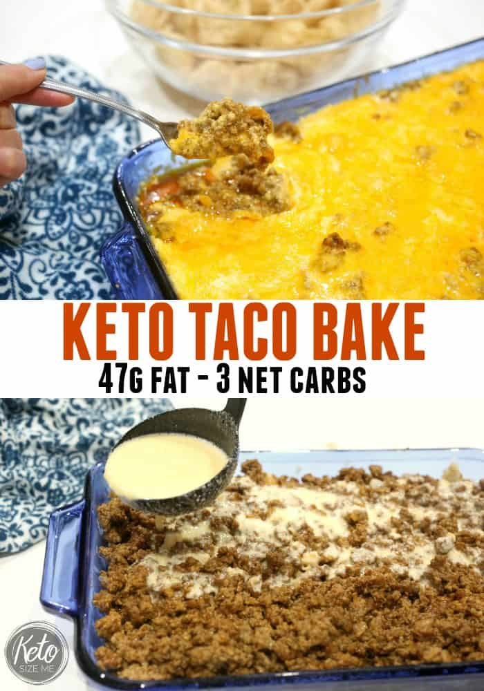 Keto Taco Bake Recipe Low Carb High Fat • Keto Size Me