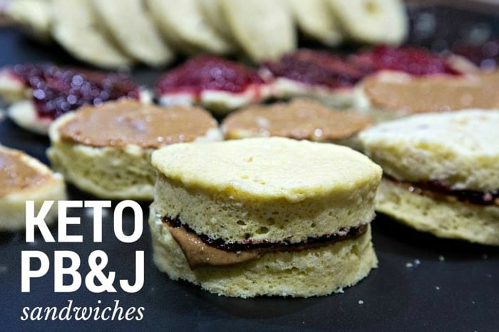 Keto Peanut Butter and Jelly Sandwiches Recipe - Keto bread with pb&j, low carb, gluten free, sugar free, KIDS LOVE IT! | ketosizeme.com