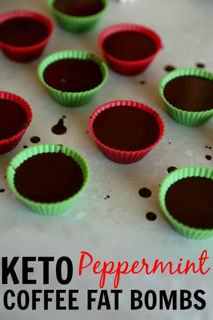 Keto Peppermint Coffee Fat Bombs Recipe. You're gonna love this one! It's perfect for the holidays. Fat bomb with ghee, coconut oil, peppermint, and stevia. This fat bomb recipe is made for the keto diet. This is perfect for coffee lovers. | ketosizeme.com