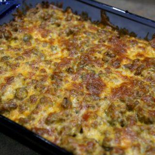Keto Cheesy Taco Casserole Recipe