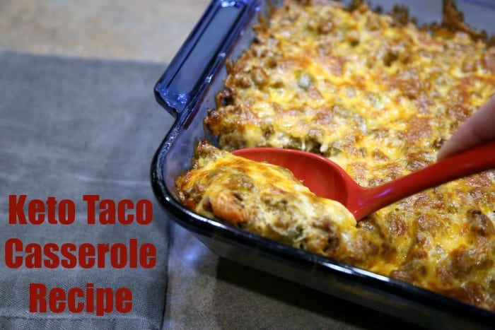 Keto Taco Casserole Recipe LCHF - Only 3 carbs and 37 grams of FAT! You don't want to miss this one. It's perfect for your game day parties. | ketosizeme.com