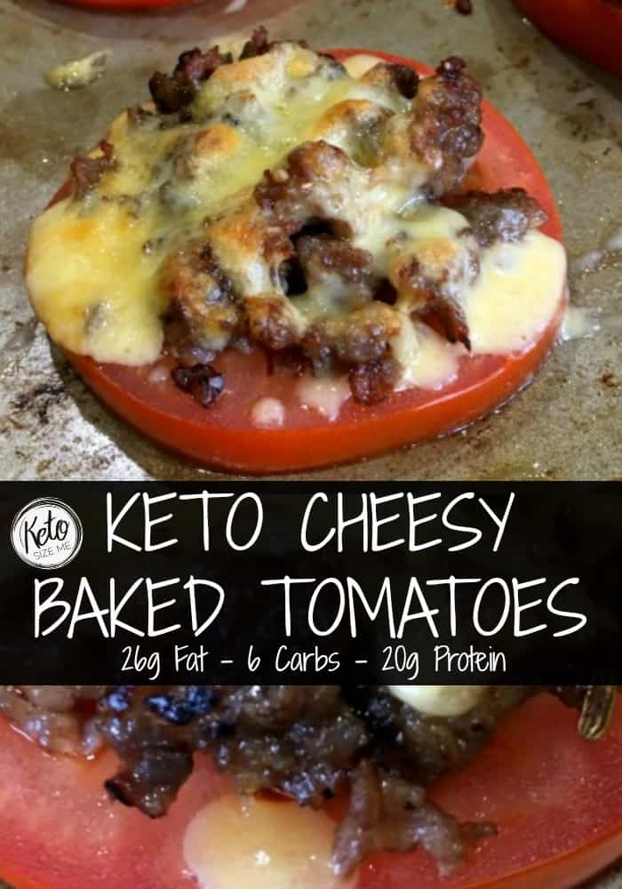 Keto Cheesy Baked Tomatoes Recipe - So Easy!