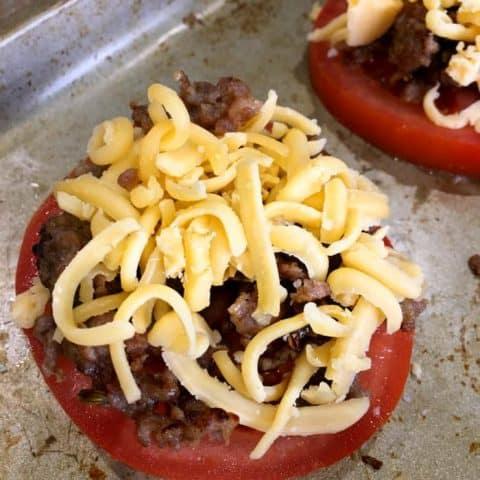 Keto Cheesy Baked Tomatoes