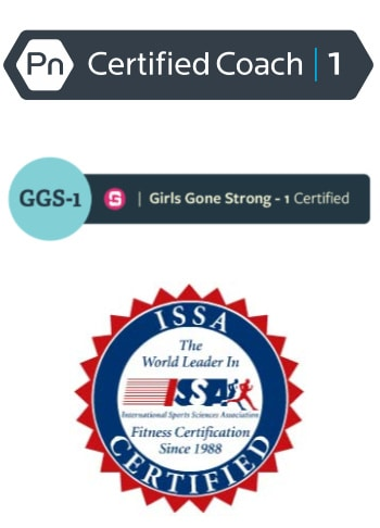 personal training certification badges earned by Shasta Walton