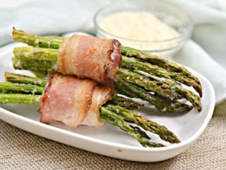 Keto Bacon-Wrapped Parmesan Asparagus Bundles