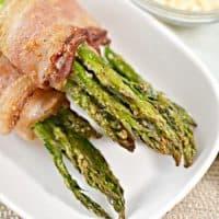 Keto Bacon-Wrapped Parmesan Asparagus Bundles
