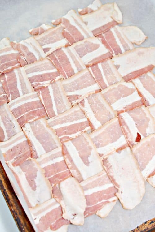 Keto Bacon Basket Weave
