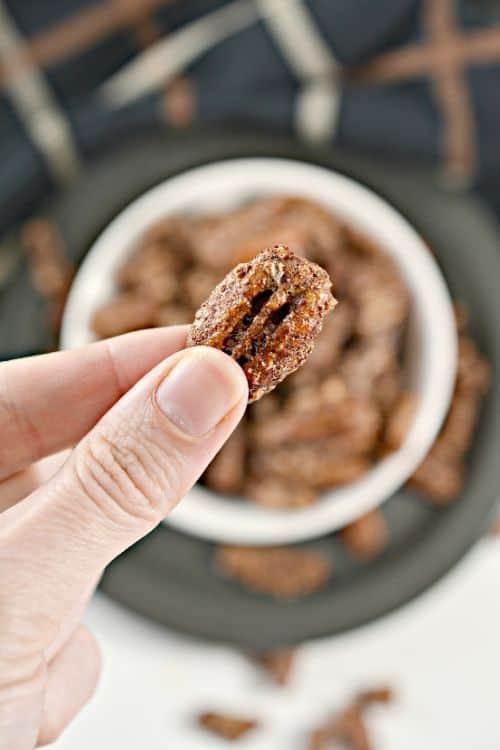 keto cinnamon sugar pecans image