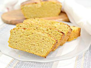 Keto Pumpkin Spice Cream Cheese Bread