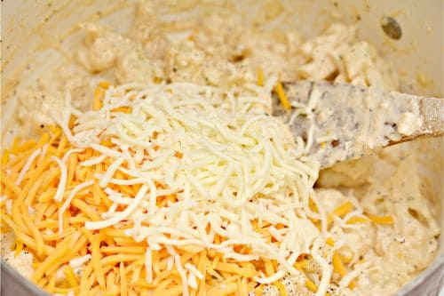 cheese and cauliflower mix
