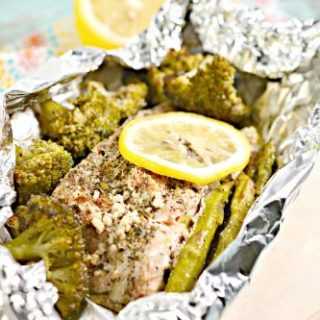 Keto Garlic Herb Salmon Foil Packets Recipe