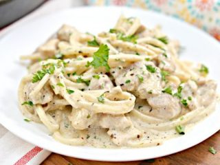 Keto Chicken Alfredo with Palmini Noodles