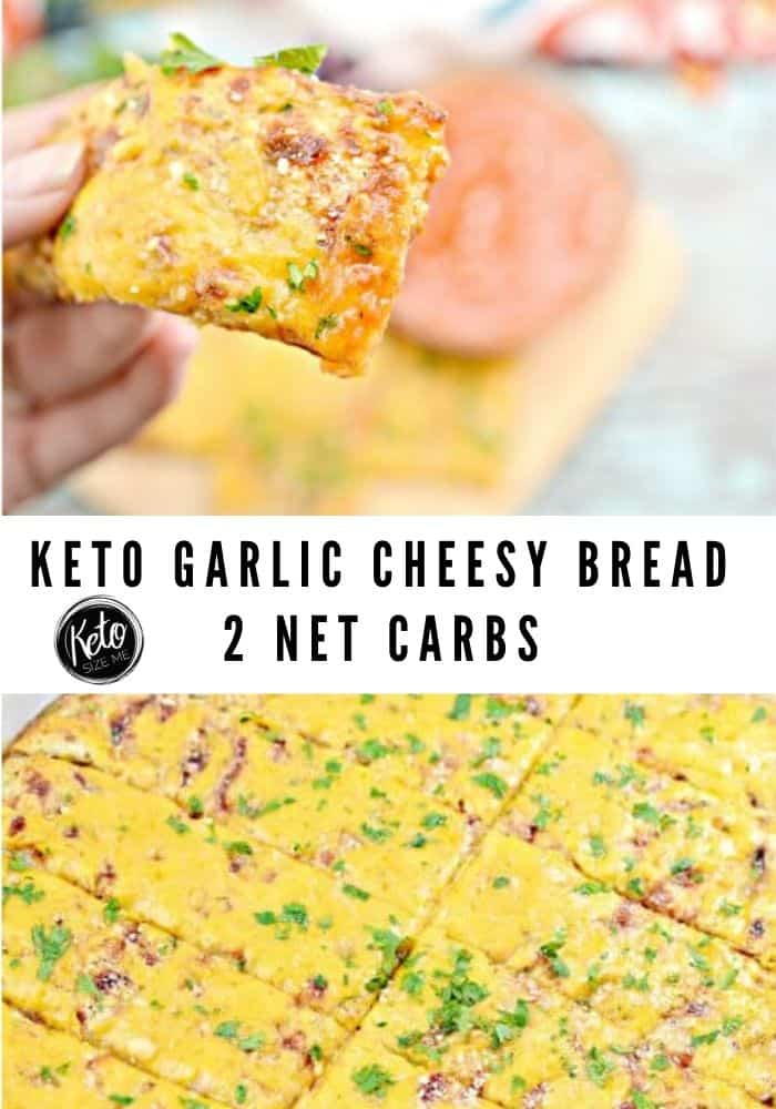 Keto Garlic Cheesy Bread Image