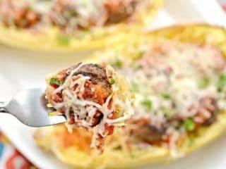 Meatball Sub Stuffed Spaghetti Squash